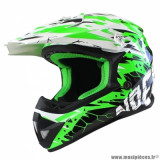 Casque cross enfant marque NoEnd Cracked taille YL (T51-52) couleur vert