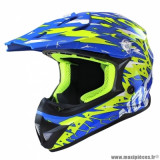 Casque cross adulte marque NoEnd Cracked taille M (T57-58) couleur bleu