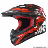 Casque cross adulte marque NoEnd Cracked taille XS (T53-54) couleur rouge