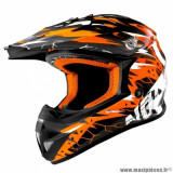 Casque cross adulte marque NoEnd Cracked taille XXL (T63-64) couleur orange