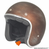Casque jet adulte marque NoEnd Tribute Rusty taille XL (T61-62) couleur brown
