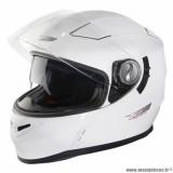 Casque intégral adulte marque NOX N917 taille S (T55-56) couleur blanc brillant