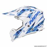 Casque cross adulte marque NOX N632 Bazooka taille M (T57-58) couleur blanc bleu
