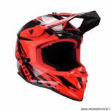 Casque cross adulte marque Trendy 20 T-903 Leaper taille XS (T53-54) couleur noir rouge verni