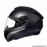 Casque intégral adulte marque MT Helmets Targo taille XS (T53-54) couleur uni noir mat