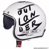 Casque jet adulte marque MT Helmets Le Mans 2 SV Outlander taille XL (T61-62) couleur blanc nacré brillant