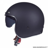 Casque jet adulte marque MT Helmets Le Mans 2 SV taille XXL (T63-64) couleur uni noir mat