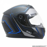 Casque intégral adulte marque ADX XR1 Shadows taille S (T55-56) couleur noir bleu mat