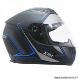 Casque intégral adulte marque ADX XR1 Shadows taille L (T59-60) couleur noir bleu mat