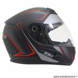 Casque intégral adulte marque ADX XR1 Shadows taille S (T55-56) couleur noir rouge mat