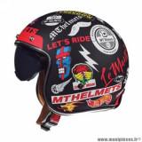 Casque jet adulte marque MT Helmets Le Mans 2 SV Anarchy taille XXL (T63-64) couleur noir