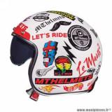 Casque jet adulte marque MT Helmets Le Mans 2 SV Anarchy taille XXL (T63-64) couleur blanc