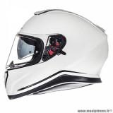 Casque intégral adulte marque MT Helmets Thunder 3 SV taille XXL (T63-64) couleur uni blanc nacré