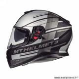 Casque intégral adulte marque MT Helmets Thunder 3 SV Pitlane taille XS (T53-54) couleur gris mat