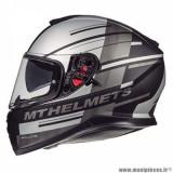 Casque intégral adulte marque MT Helmets Thunder 3 SV Pitlane taille M (T57-58) couleur gris mat