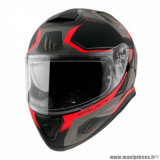 Casque intégral adulte marque MT Helmets Thunder 3 SV Turbine taille S (T55-56) couleur rouge mat