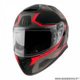 Casque intégral adulte marque MT Helmets Thunder 3 SV Turbine taille XXL (T63-64) couleur rouge mat