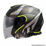 Casque jet adulte marque MT Helmets Thunder 3 SV Bow taille XS (T53-54) couleur gris mat jaune fluo