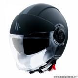 Casque jet adulte marque MT Helmets Viale SV taille L (T59-60) couleur uni noir mat