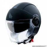Casque jet adulte marque MT Helmets Viale SV taille XXL (T63-64) couleur uni noir mat