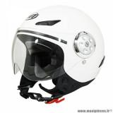 Casque jet enfant marque MT Helmets Urban Kid taille YXL (T53-54) couleur uni blanc brillant