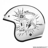 Casque jet adulte marque MT Helmets Le Mans 2 SV Diler taille L (T59-60) couleur blanc brillant