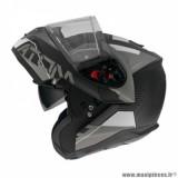 Casque modulable adulte marque MT Helmets Atom SV Quark A0 taille XXL (T63-64) couleur noir blanc mat brillant