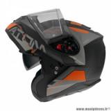 Casque modulable adulte marque MT Helmets Atom SV Quark A4 taille XXL (T63-64) couleur noir orange fluo mat
