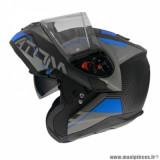 Casque modulable adulte marque MT Helmets Atom SV Quark A7 taille XXL (T63-64) couleur noir bleu mat