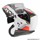 Casque modulable adulte marque MT Helmets Atom SV Quark B5 taille XXL (T63-64) couleur blanc rouge brillant