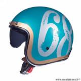 Casque jet adulte marque MT Helmets Le Mans 2 SV Hipster taille XXL (T63-64) couleur vert brillant