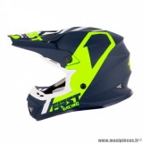 Casque cross adulte marque First Racing K2 taille L (T59-60) couleur bleu blanc fluo