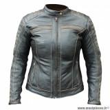 Blouson femme marque Archive Classic taille XL - En cuir de buffle