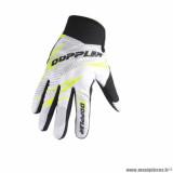 Gants cross marque Doppler taille M / T9 couleur blanc jaune noir