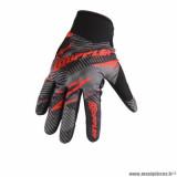 Gants cross marque Doppler taille XS / T7 couleur noir rouge