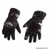 Gants hiver marque Trendy GT520 Ripon taille XXL / T12 couleur noir rouge