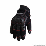 Gants hiver marque Trendy GT320 Cypress taille S / T8 couleur noir rouge