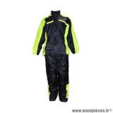 Combinaison de pluie marque Trendy taille S couleur noir jaune fluo - Ensemble 2 pièces veste + pantalon