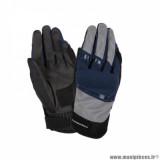 Gants printemps/été homme marque Tucano Urbano Penna taille S / T8 couleur bleu argent - Comptaible écran tactile