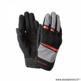 Gants printemps/été homme marque Tucano Urbano Penna taille S / T8 couleur noir rouge - Comptaible écran tactile