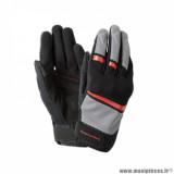 Gants printemps/été homme marque Tucano Urbano Penna taille M / T9 couleur noir rouge - Comptaible écran tactile