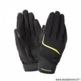 Gants printemps/été homme marque Tucano Urbano Miky taille S / T8 couleur noir jaune fluo - Comptaible écran tactile