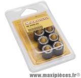 Galets maxi scooter malossi par 6 diamètre 25x 22,2 poid 20,00 grammes pour variateur d'origine et multivar .