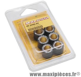 Galets maxi scooter malossi par 6 diamètre 23x 18 poid 27,00 grammes pour variateur d'origine et multivar .