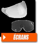 Écran de casque et lunettes