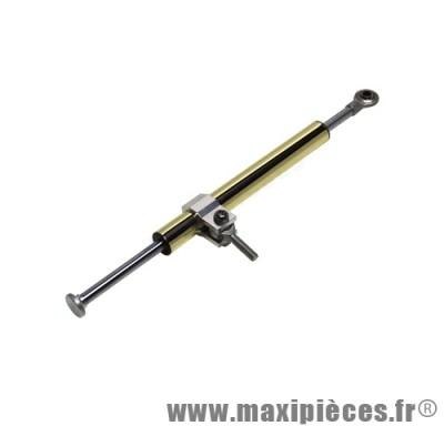 Amortisseur / vérin de direction réglable couleur or et argent longueur 340mm course 123mm