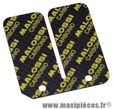 3 lamelle de clapet malossi carbone pour clapet d'origine vendu par 3: (0.30/0.35/0.40) pour: mbk booster stunt rocket yamaha bws aprilia amico sr 50 ...