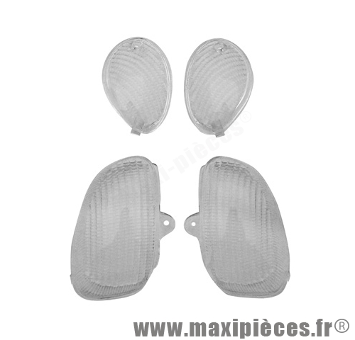 Cabochon clignotant blanc ovetto.