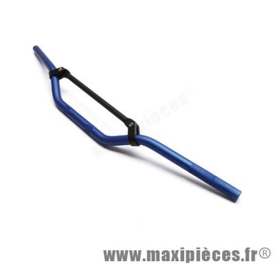 guidon de 50 a boite cross alu bleu l810mm h50mm avec barre de renfort noir
