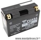Batterie 12v / 8 ah (yt9b-bs) sans entretien prêt à l'emploi pour yamaha 400 majesty 500 t-max (dimension: lg150xl70xh105)